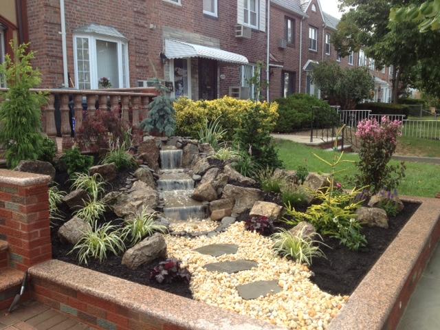 queens ponds landscaping design rock garden waterfalls in queens