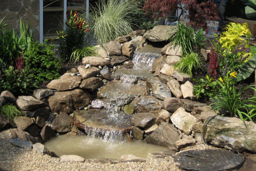 Queens Ponds Landscaping Design Rock Garden Waterfalls